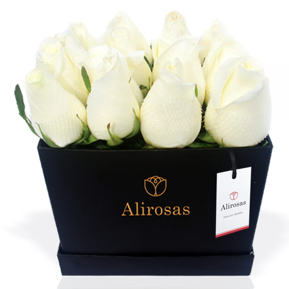 Box de rosas blancas: Encuentra bellos arreglos en nuestra florería online