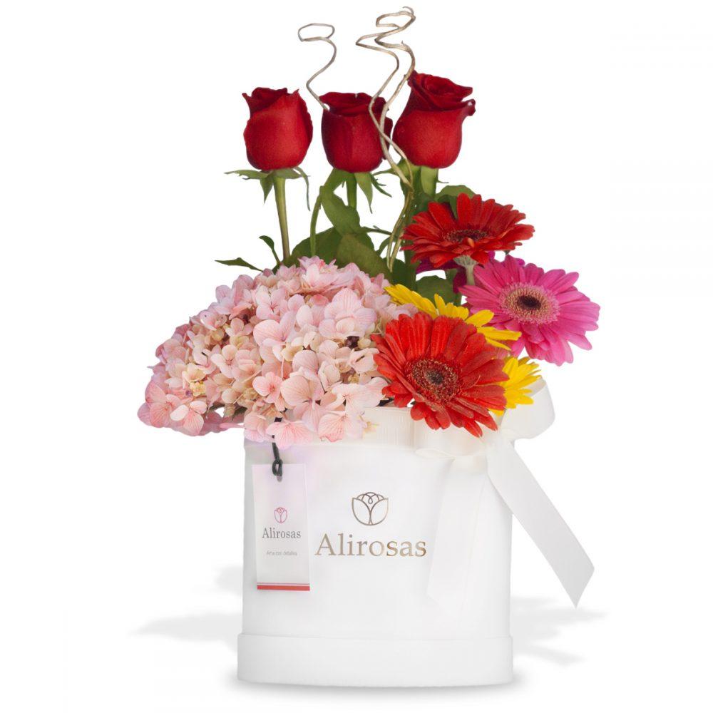 Arreglo floral de Rosas y Gerberas