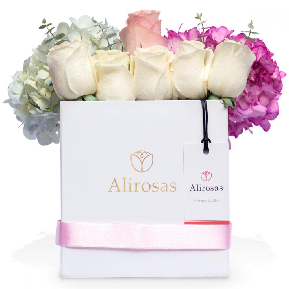 Box de Rosas y Hortensias