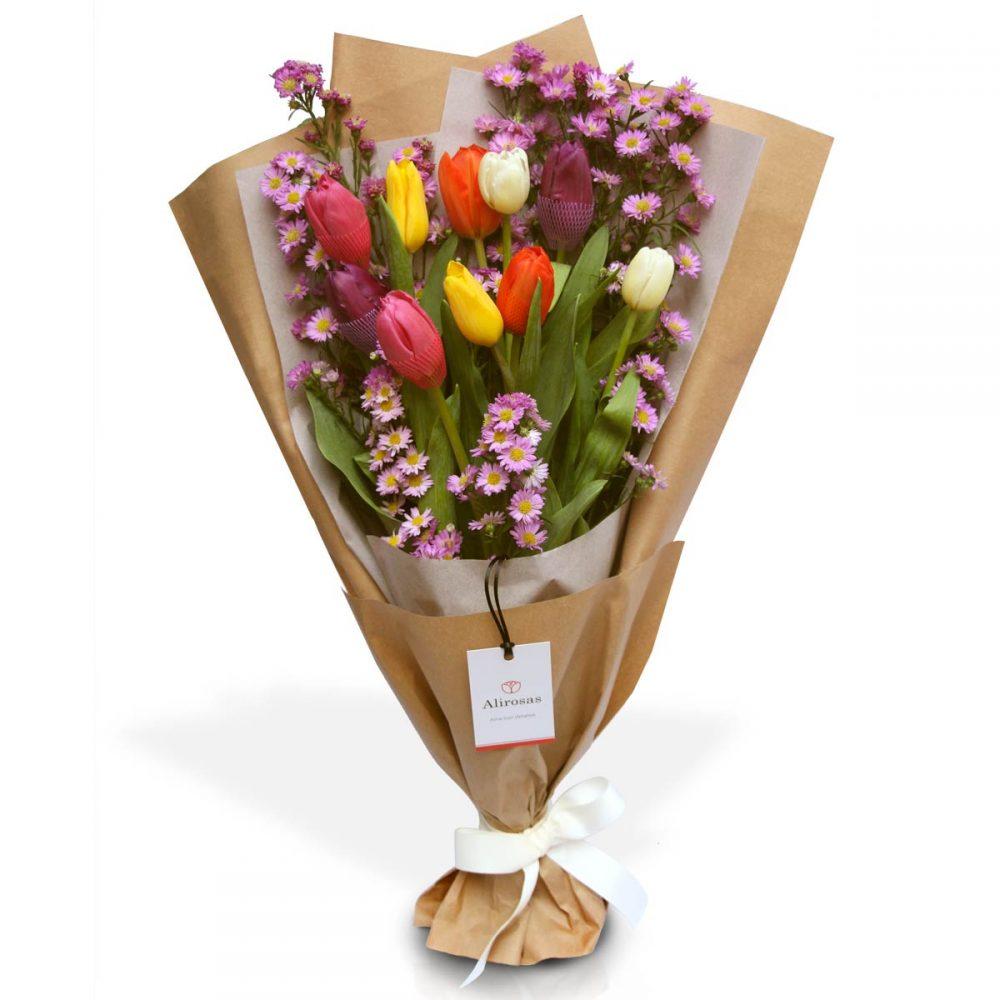 Ramo de tulipanes: enviar por delivery, Florería Surco Alirosas