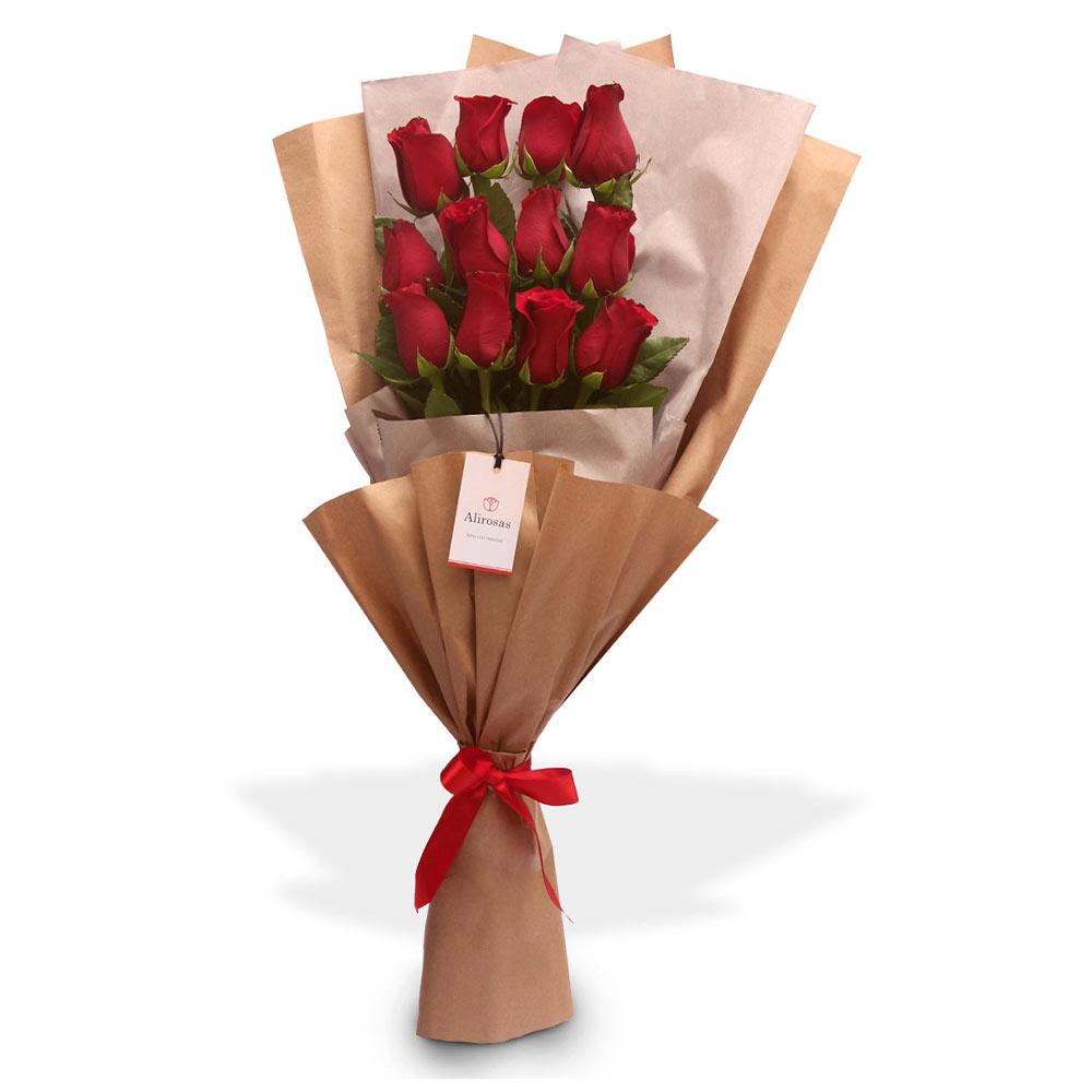 Ramo de 12 Rosas rojas
