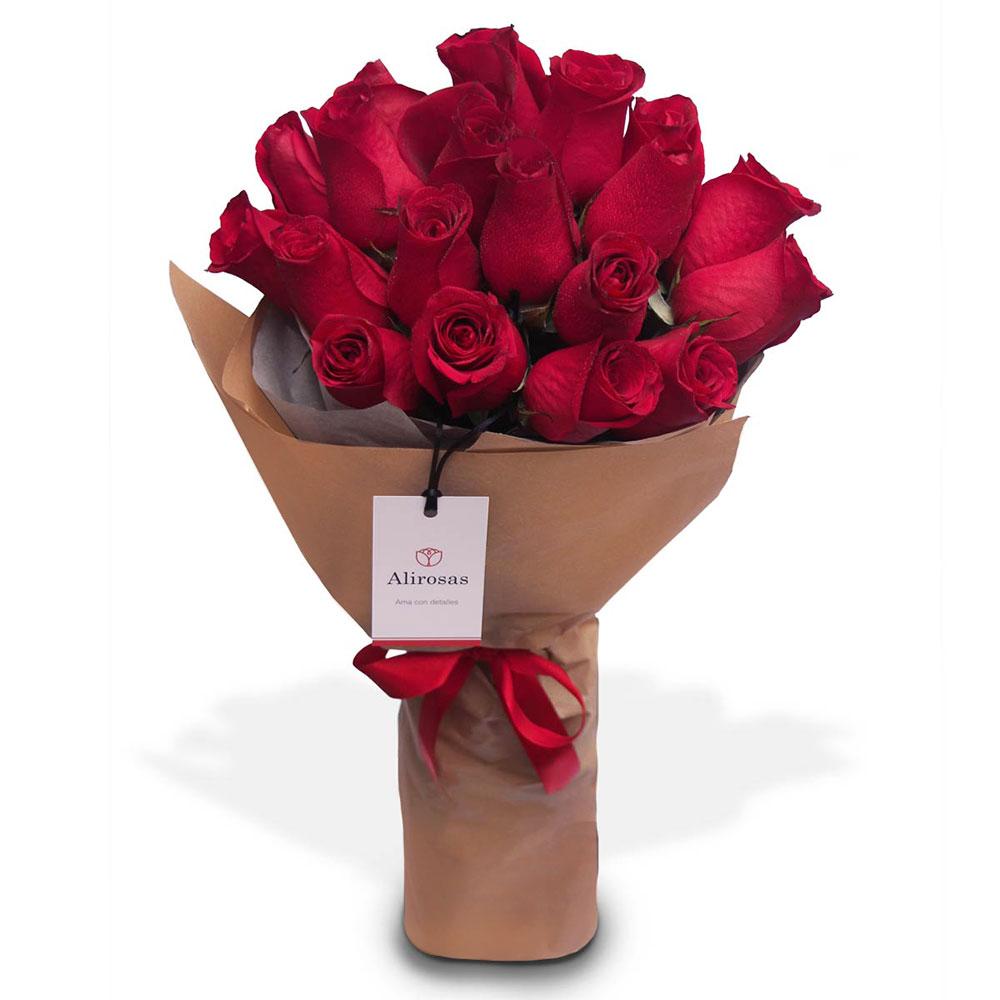 Ramo de rosas rojas: enviar por delivery, Florería Surco Alirosas